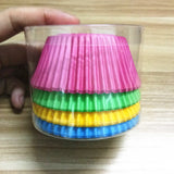 100PCS Muffins Paper Cupcake Wrappers Mixed color