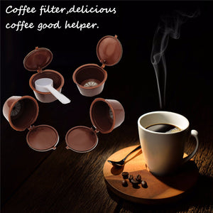 4Pcs/Set Coffee Capsule Refillable Coffee Capsules