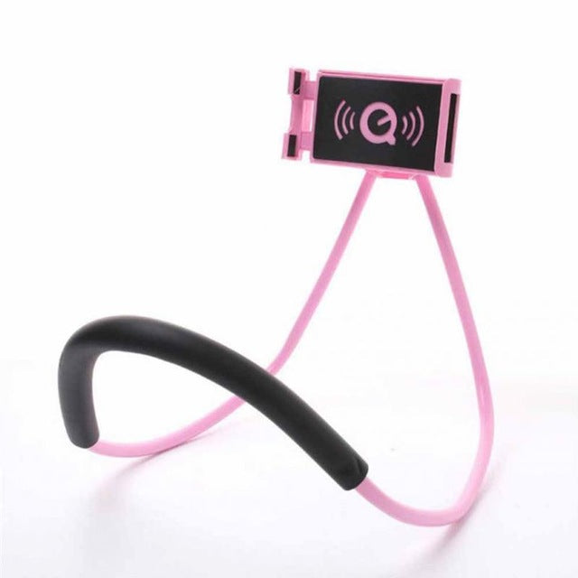 Neck Hanging Smartphone Holder pink