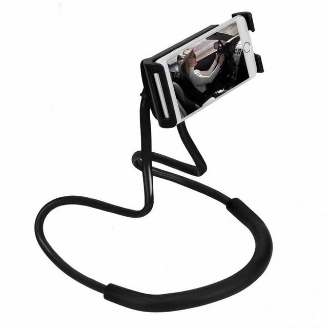 Neck Hanging Smartphone Holder black