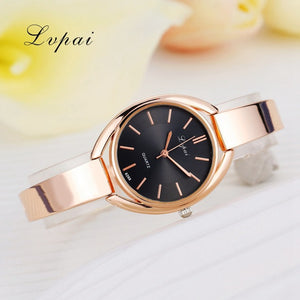Luxury Women Bracelet Watches Rose Gold Black 1