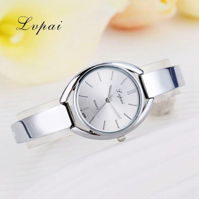 Luxury Women Bracelet Watches Silver White 1