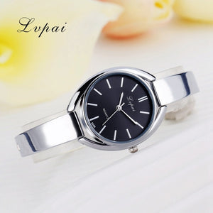 Luxury Women Bracelet Watches Silver Black 1