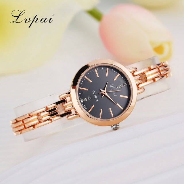 Luxury Women Bracelet Watches Rose Gold Black
