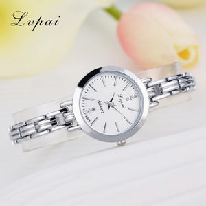 Luxury Women Bracelet Watches Silver White