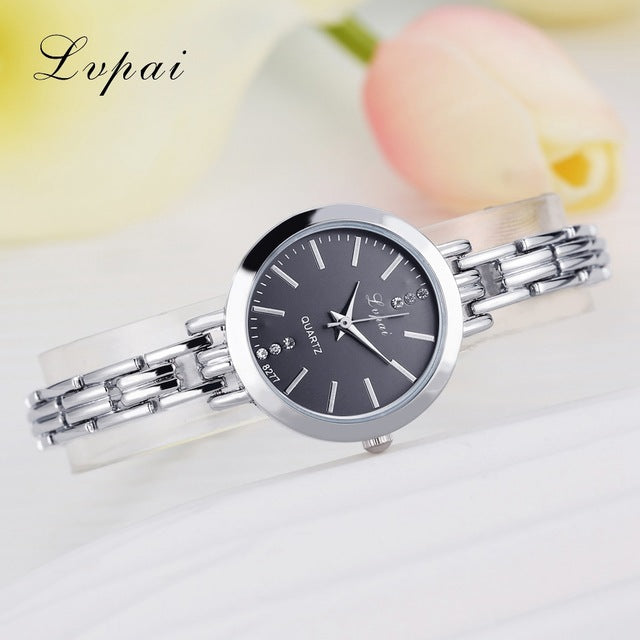 Luxury Women Bracelet Watches Silver Black