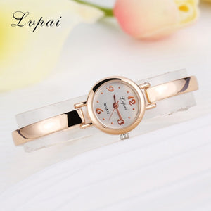 Luxury Women Bracelet Watches Rose Gold White 3
