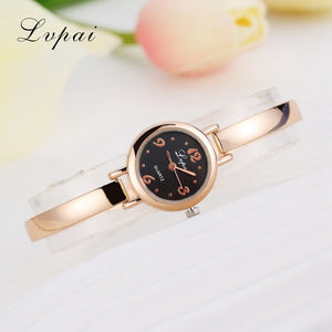 Luxury Women Bracelet Watches Rose Gold Black 3