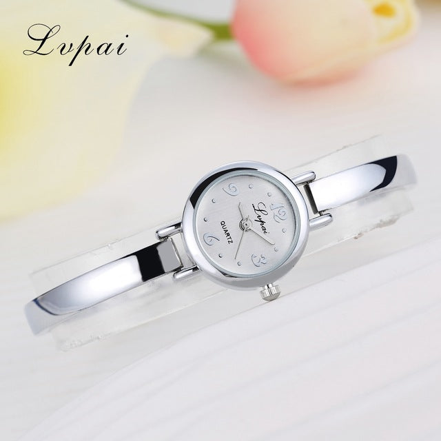 Luxury Women Bracelet Watches Silver White 3