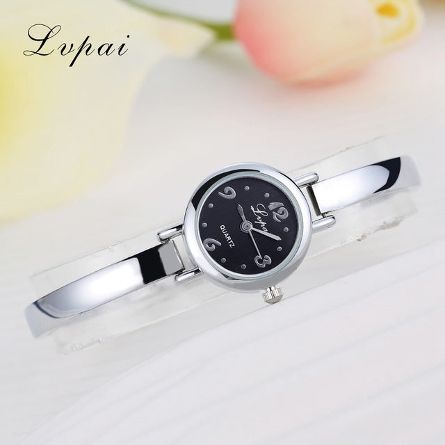 Luxury Women Bracelet Watches Silver Black 3