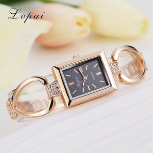 Luxury Women Bracelet Watches Rose Gold Black 2