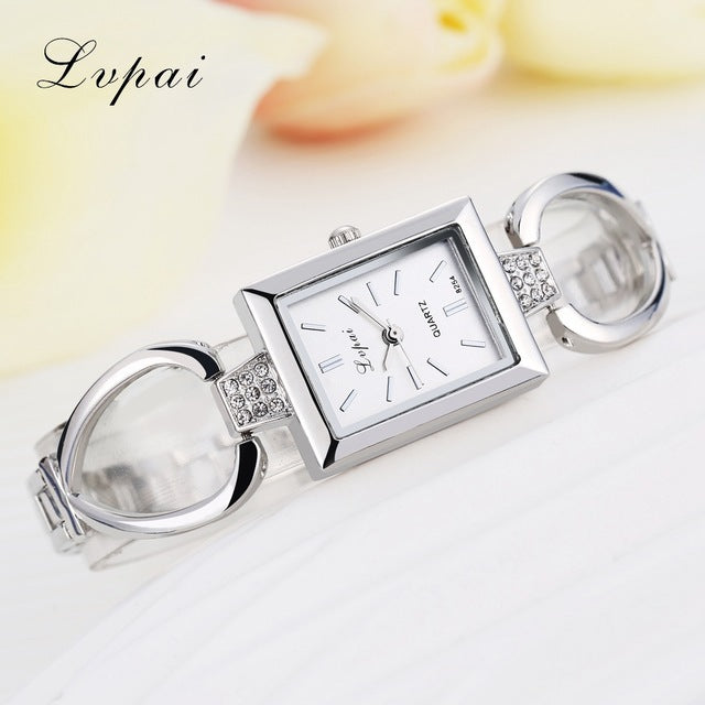 Luxury Women Bracelet Watches Silver White 2