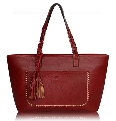 Luxy Moon PU Leather Tassel Handbag