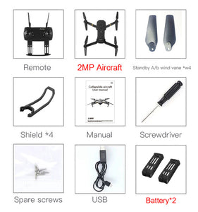IEachine E58 WIFI FPV 720P 2MP HD Camera Foldable Arm RC Drone Quadcopter 2MP x 2 Battery