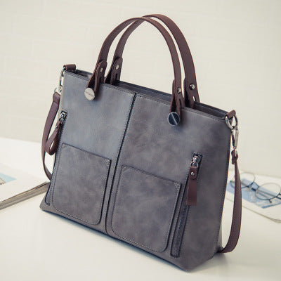 Vintage PU Leather Shoulder Handbag