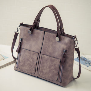 Vintage PU Leather Shoulder Handbag Handbag Foxy Beauty
