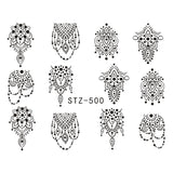 Beautiful Sticker Water Transfer Decals Nail Art STZ500