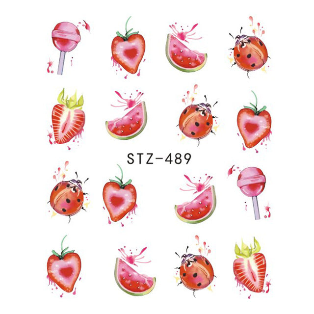 Beautiful Sticker Water Transfer Decals Nail Art STZ489