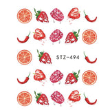Beautiful Sticker Water Transfer Decals Nail Art STZ494