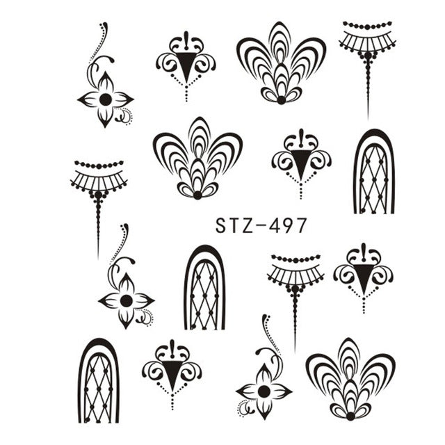 Beautiful Sticker Water Transfer Decals Nail Art STZ497