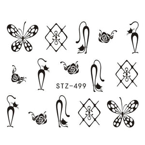 Beautiful Sticker Water Transfer Decals Nail Art STZ499