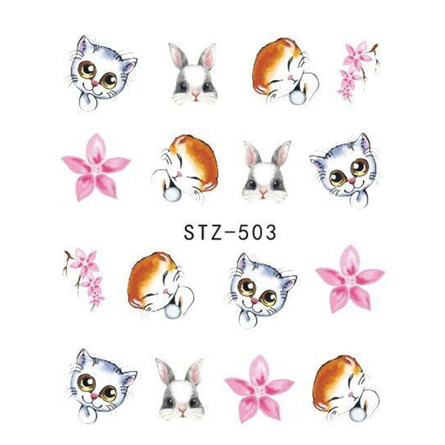 Beautiful Sticker Water Transfer Decals Nail Art STZ503