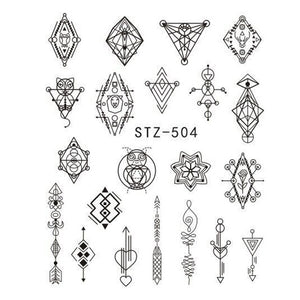 Beautiful Sticker Water Transfer Decals Nail Art STZ504