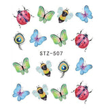 Beautiful Sticker Water Transfer Decals Nail Art STZ507