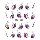 Beautiful Sticker Water Transfer Decals Nail Art STZ508
