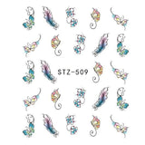 Beautiful Sticker Water Transfer Decals Nail Art STZ509