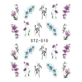 Beautiful Sticker Water Transfer Decals Nail Art STZ510