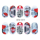 Beautiful Sticker Water Transfer Decals Nail Art STZ511