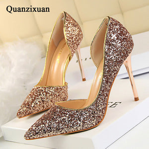 Bling High Heels Glitter Shoes