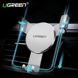 UGREEN Gravity Car Air Vent Mount Smartphone Holder for iPhone Samsung Xiaomi GPS