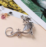 Metal Dragon Ear Cuff Silver