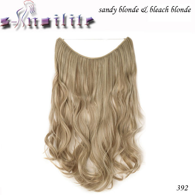 20 inches Invisible Wire No Clips Fish Line Hairpieces Silky Straight P2/350 / 20inches