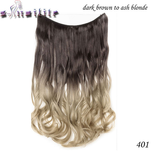 20 inches Invisible Wire No Clips Fish Line Hairpieces Silky Straight P27/613 / 20inches