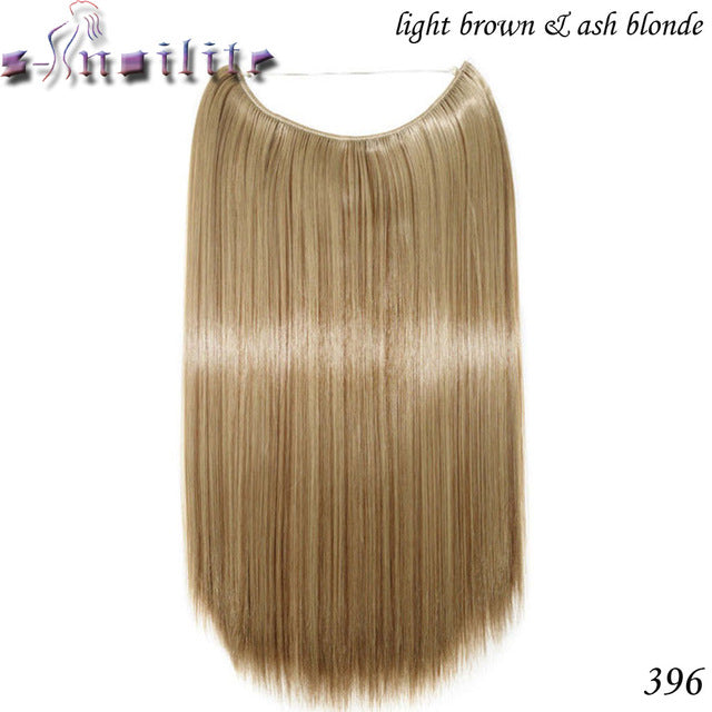 20 inches Invisible Wire No Clips Fish Line Hairpieces Silky Straight 1B#/27# / 20inches