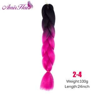 Ombre Jumbo Braid Extensions 1B/27HL / 24inches
