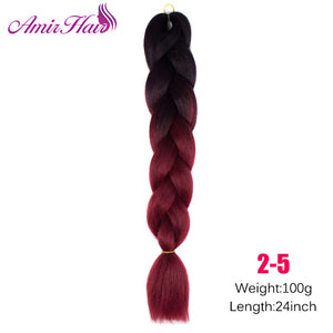 Ombre Jumbo Braid Extensions 4/27HL / 24inches