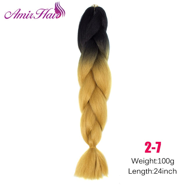 Ombre Jumbo Braid Extensions NC/4HL / 24inches