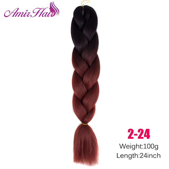 Ombre Jumbo Braid Extensions T1B/350 / 24inches