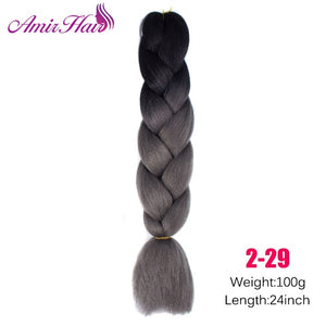 Ombre Jumbo Braid Extensions T1B/27 / 24inches