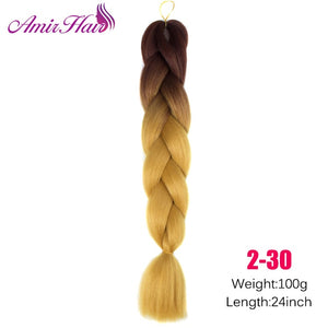 Ombre Jumbo Braid Extensions T1B/30 / 24inches