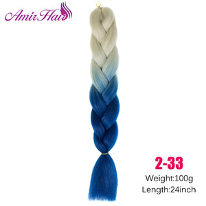 Ombre Jumbo Braid Extensions T1B/33/27 / 24inches