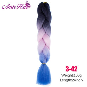 Ombre Jumbo Braid Extensions #8 / 24inches