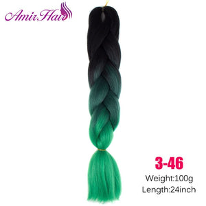 Ombre Jumbo Braid Extensions #16 / 24inches