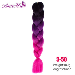 Ombre Jumbo Braid Extensions #24 / 24inches