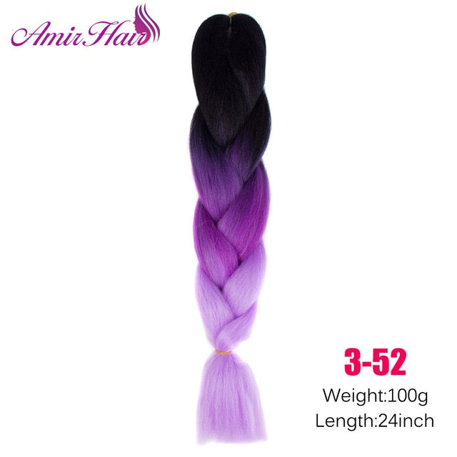 Ombre Jumbo Braid Extensions #27 / 24inches
