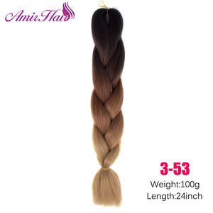 Ombre Jumbo Braid Extensions #30 / 24inches